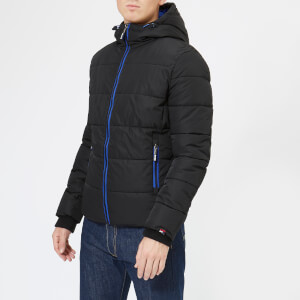 Superdry Men's Sports Puffer Jacket - Black/Cobalt