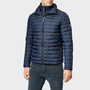 Superdry Men's Double Zip Fuji Padded Jacket - Navy
