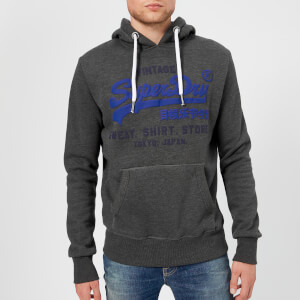 Superdry Men's Duo Hooded Sweatshirt - Charcoal: Image 1