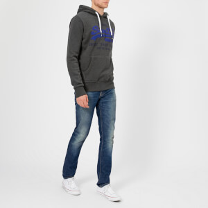 Superdry Men's Duo Hooded Sweatshirt - Charcoal: Image 3