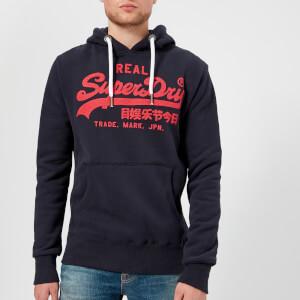 Superdry Men's Vintage Logo Hoody - Podium Navy