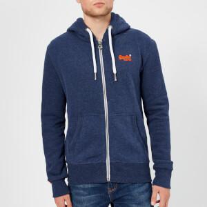 Superdry Men's Orange Label Zip Hoody - Montana Blue Grit