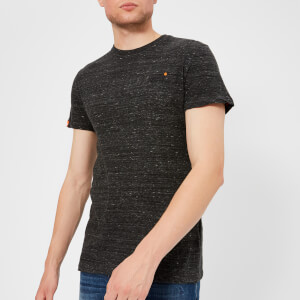 Superdry Men's Orange Label Small Logo T-Shirt - Vast Black Space Dye