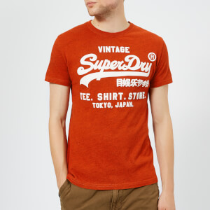 Superdry Men's Shirt Shop T-Shirt - Arazona Orange Grit