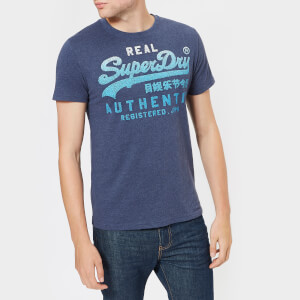Superdry Men's Vintage Authentic Fade T-Shirt - Princedom Blue Marl