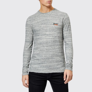 Superdry Men's Orange Label Long Sleeve Top - Alaska Grey Space Dye