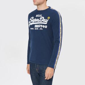 Superdry Men's Vintage Logo Panel Long Sleeve Top - Montana Blue Grit