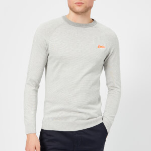 Superdry Men's Orange Label Crew Neck Jumper - Flannel Feeder Grey