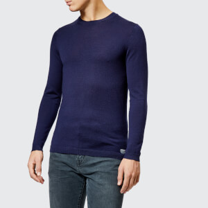 Superdry Men's Merino Crew Neck Jumper - Dark Cavern Navy