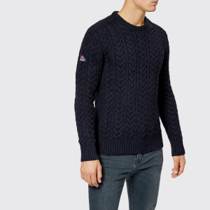Superdry Men's Jacob Crew Neck Jumper - Navy/Black Twist