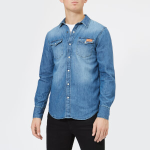 Superdry Men's Resurrection Shirt - Merchant Vintage Blue