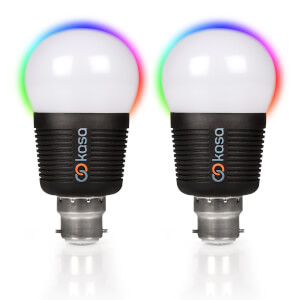 Veho Kasa Bluetooth Smart Lighting LED B22 Bulb with Free App (Twin Pack)