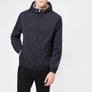 Aquascutum Men's Tyne Hooded Reversible Blouson Jacket - Navy