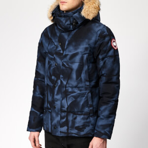 Canada Goose Men's Wyndham Parka Jacket - Blue Abstract Camo