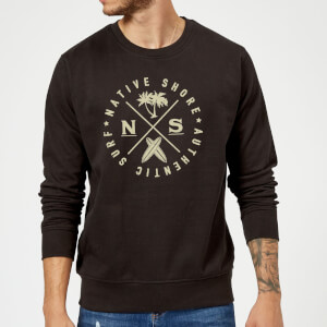 Native Shore Authentic Surf Circle Sweatshirt - Black