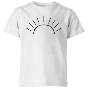 My Little Rascal Sun Linework Kids' T-Shirt - White