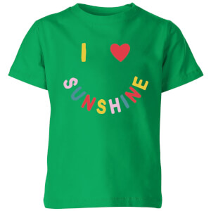My Little Rascal I Love Sunshine Kids' T-Shirt - Kelly Green