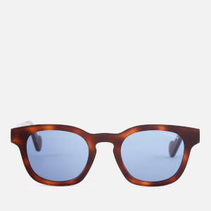 Moncler Men's Wayfarer Sunglasses - Havana/Other/Blue