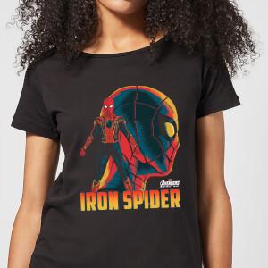 T-Shirt Femme Iron Spider Avengers - Noir