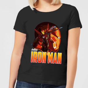 Avengers Iron Man Dames T-shirt - Zwart