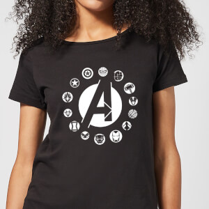 Avengers Team Logo Women's T-Shirt - Black