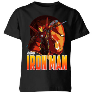 Avengers Iron Man Kids' T-Shirt - Black
