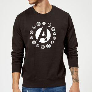 Avengers Team Logo Sweatshirt - Black