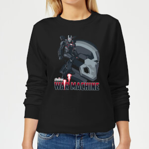 Avengers War Machine Women's Sweatshirt - Black