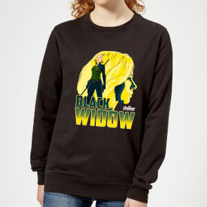 Sweat Femme Black Widow Avengers - Noir