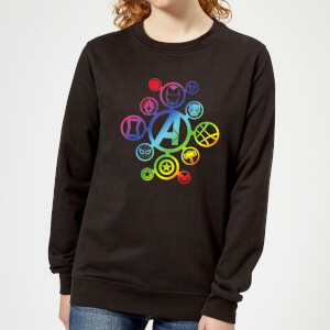 Avengers Rainbow Icon Women's Sweatshirt - Black