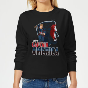 Avengers Captain America Women's Sweatshirt - Black