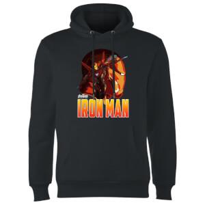 Sweat à Capuche Homme Iron Man Avengers - Noir