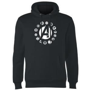 Avengers Team Logo Hoodie - Black