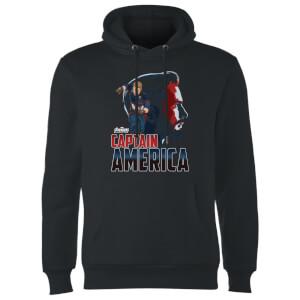 Sweat à Capuche Homme Captain America Avengers - Noir