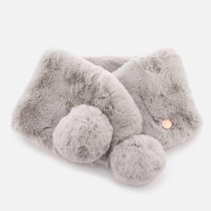 Ted Baker Women's Zalie Faux Fur Pom Snood - Grey