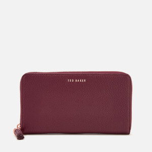 Ted Baker Women's Sheea Tassel Zip Around Matinee Purse - Maroon