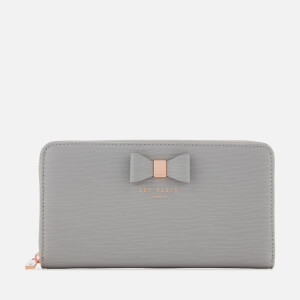 Ted Baker Women's Peony Textured Zip Around Matinee Purse - Grey