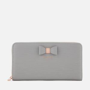 Ted Baker Women's Peony Textured Zip Around Matinee Purse - Grey