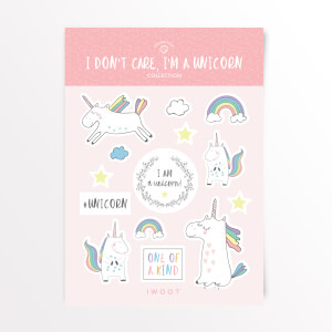 I Don't Care, I'm A Unicorn Sticker Pack