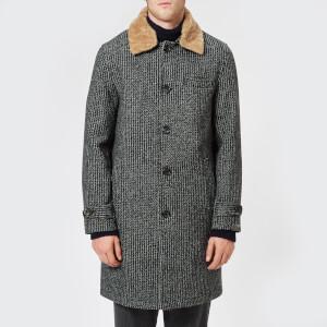 Oliver Spencer Men's Beaumont Sheepskin Collar Coat - Banbury Charcoal