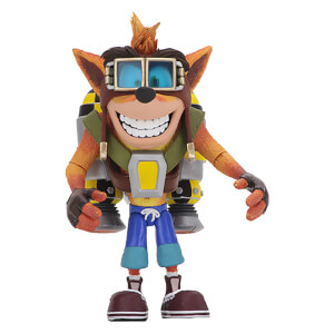"NECA Crash Bandicoot - 7"" Action Figure - Deluxe Jetpack Crash"