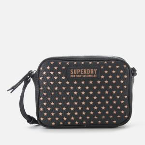 Superdry Women's Delwen Star Perf Cross Body Bag - Black/Rose Gold