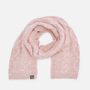Superdry Women's Arizona Cable Scarf - Sandy Pink Twist