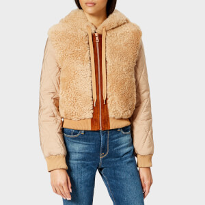 See By Chloé Women's Shearling Mix Jacket - Chestnut Cream