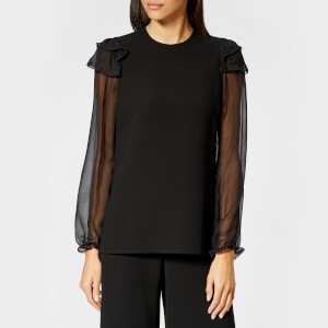 See By Chloé Women's Embellished Crepe Blouse - Black