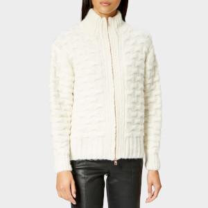 See By Chloé Women's Feminine Textured Knit Jacket - Beige/White