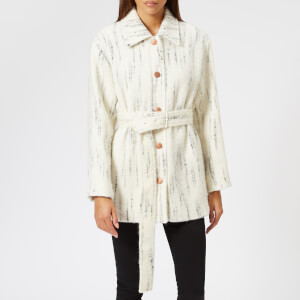 See By Chloé Women's Brushed Wool Coat - White/Black