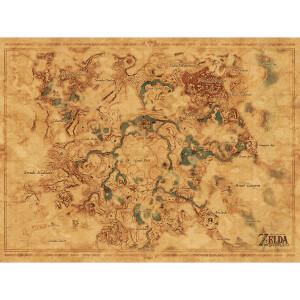 The Legend Of Zelda: Breath Of The Wild (Hyrule World Map)