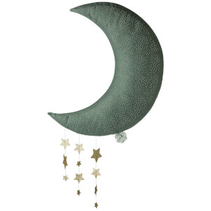 Picca Lolou Hanging Moon with Stars - Grey