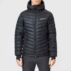 Peak Performance Men's Frost Down Hooded Jacket - Black